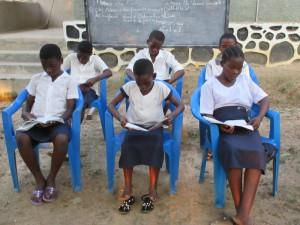 9. Groupe des enfants surdoués lors des exercices
