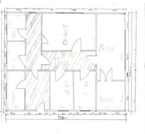 Grundriss der geplanten Schule